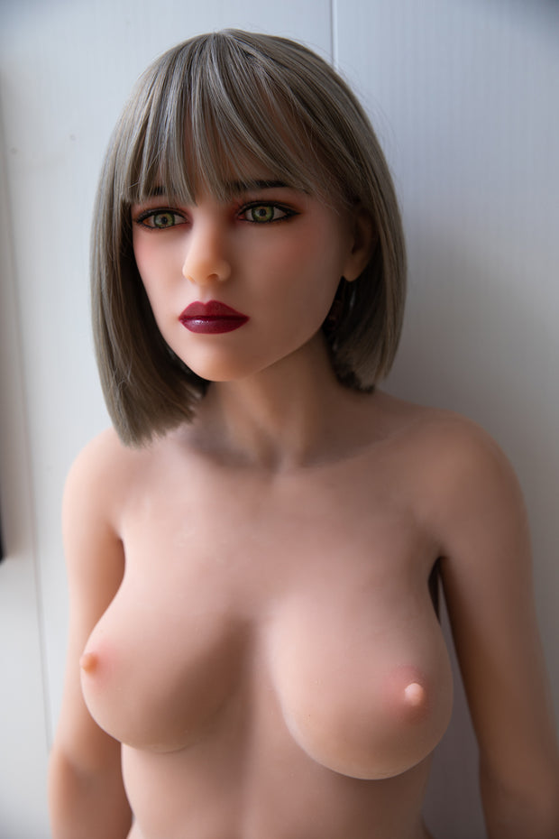 "HRDOLL Brand 5ft3"" Premium TPE Realistic A-cup Breast Lifelike Sex Love Doll ID:158-34"