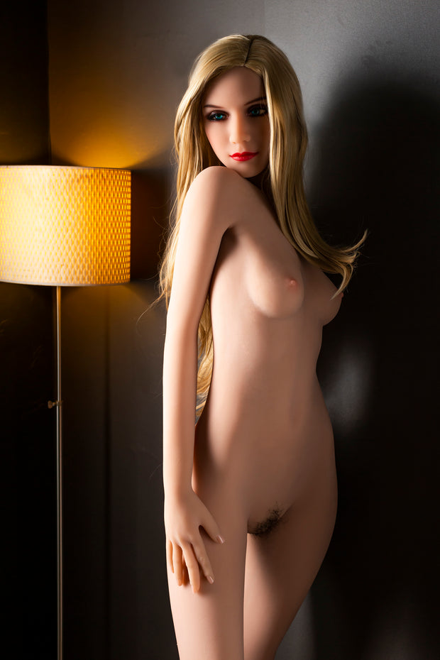"HRDOLL Brand 5ft6"" Premium TPE Realistic A-cup Breast Lifelike Sex Love Doll ID:166-21"