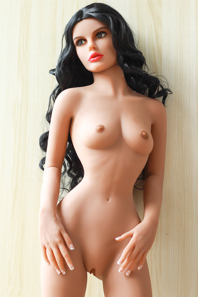 "5ft1"" Premium TPE Realistic A-cup Breast Slim Waist Men Sex Love Doll ID:155-09"