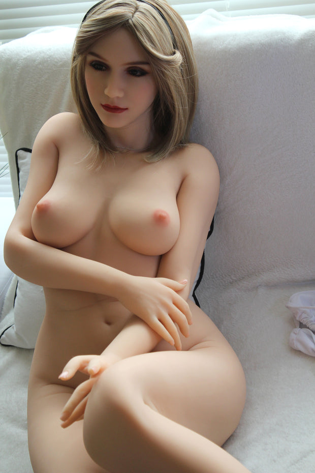 "5ft3"" Premium TPE Realistic B-cup Breast Lifelike Sex Love Doll ID:158-42"