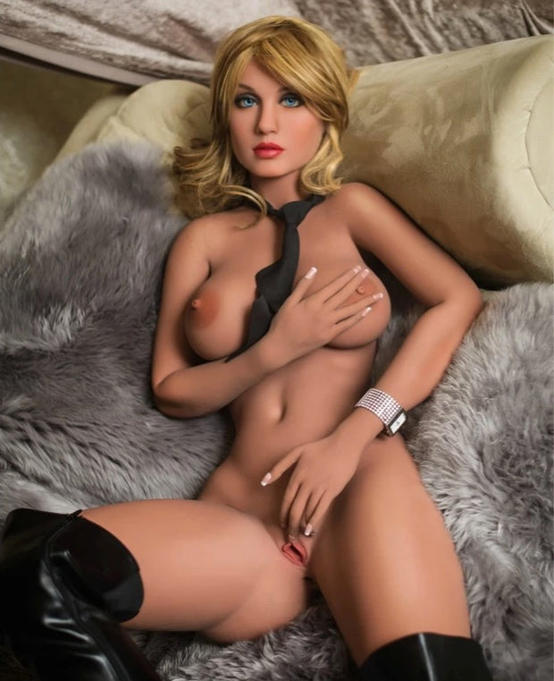 "5ft5"" Premium TPE Realistic E-cup Breast Lifelike Sex Love Doll ID:165-24"
