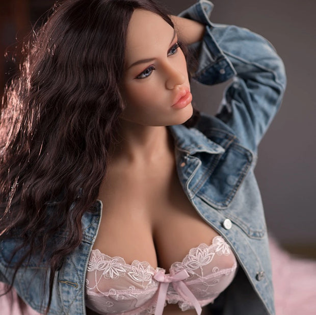 "5ft5"" Premium TPE Realistic E-cup Breast Lifelike Sex Love Doll ID:165-25"