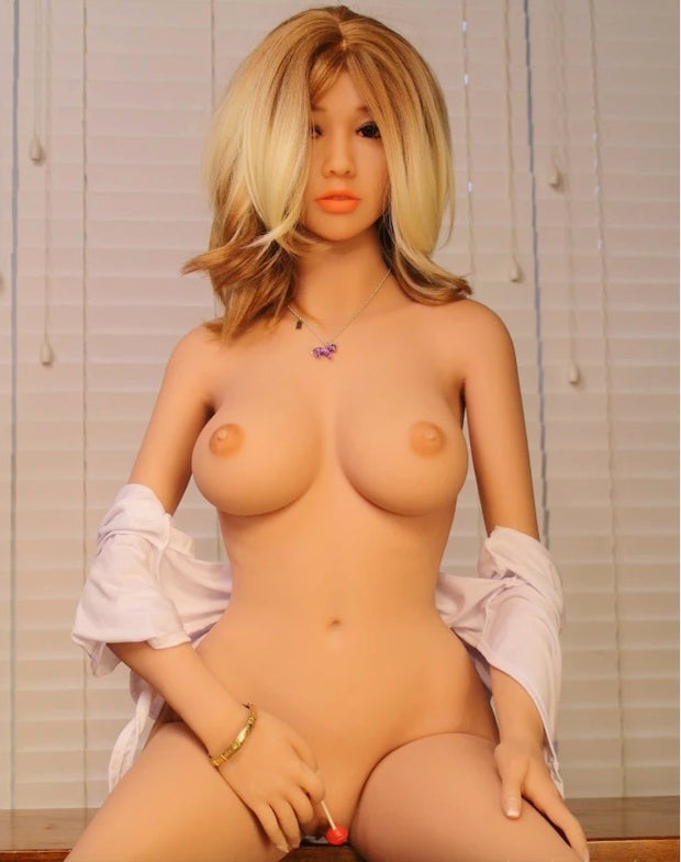 "4ft7"" Premium TPE Realistic A-cup Breast Lifelike Sex Love Doll ID:140-29"