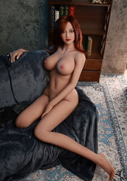 "4ft7"" Premium TPE Realistic D-cup Breast Men Sex Love Doll ID:140-33"