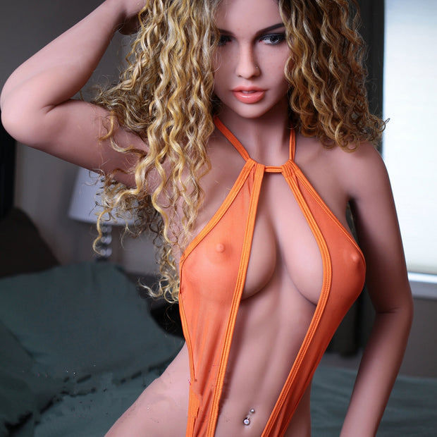 "5ft5"" Premium TPE Realistic D-cup Breast Men Sex Love Doll ID:165-28"