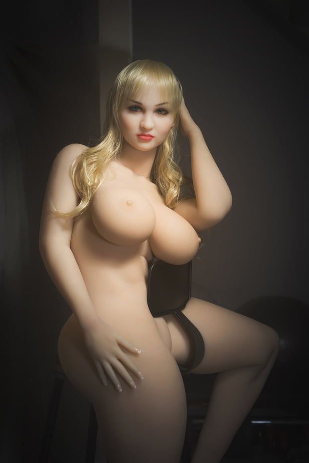 "5ft4"" Premium TPE Realistic H-cup Breast Lifelike Sex Love Doll ID:162-06"