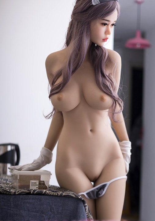 "5ft3"" Premium TPE Realistic C-cup Breast Lifelike Sex Love Doll ID:158-18"