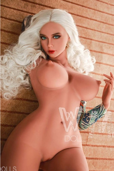 "5ft1"" Premium TPE Realistic D-cup Breast Lifelike Sex Love Doll ID:155-07"