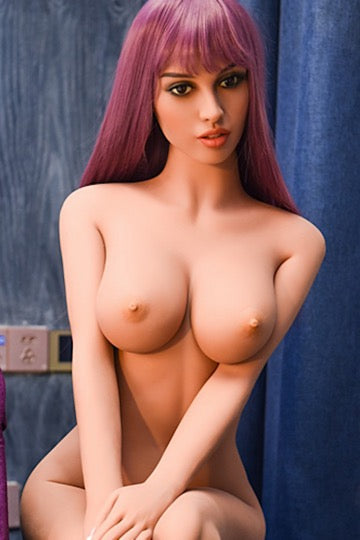 "5ft3"" Premium TPE Realistic D-cup Breast Lifelike Sex Love Doll ID:158-21"