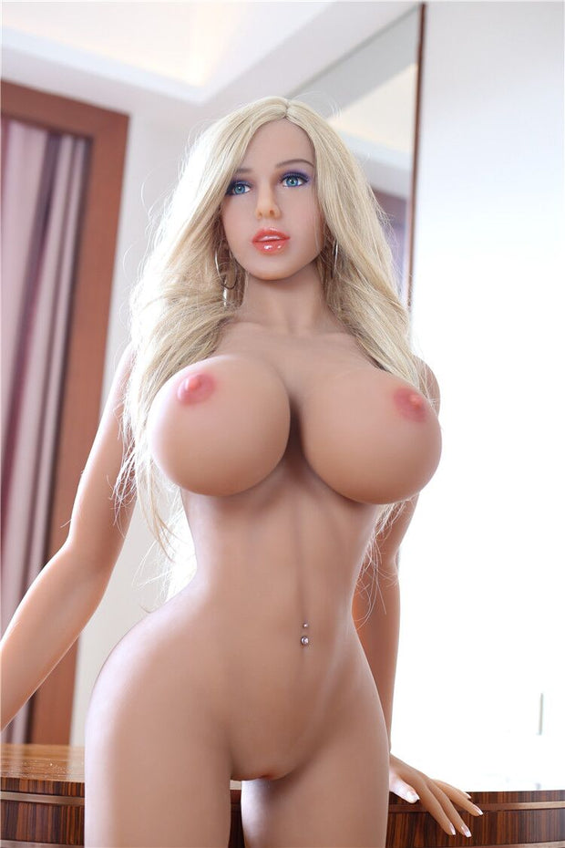 "5ft4"" Premium TPE Realistic H-cup Breast Men Sex Love Doll ID:161-04"