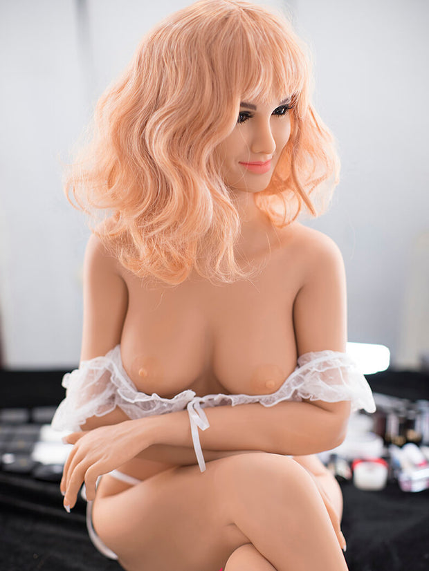 "5ft3"" Premium TPE Realistic C-cup Breast Lifelike Sex Love Doll ID:158-05"