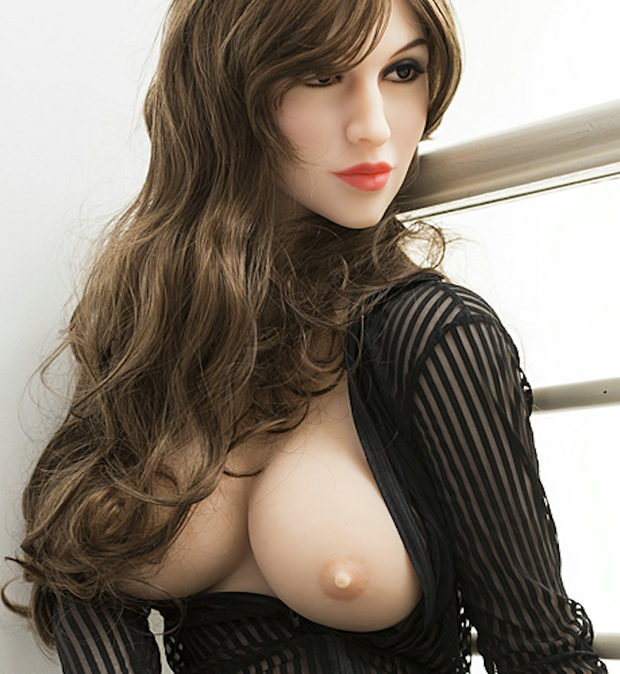 "5ft5"" Premium TPE Realistic E-cup Breast Lifelike Sex Love Doll ID:165-04"