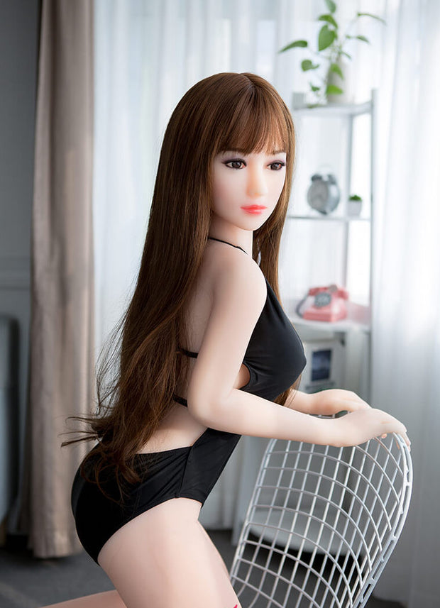 "4ft7"" Premium TPE Realistic D-cup Breast Men Sex Love Doll ID:140-11"