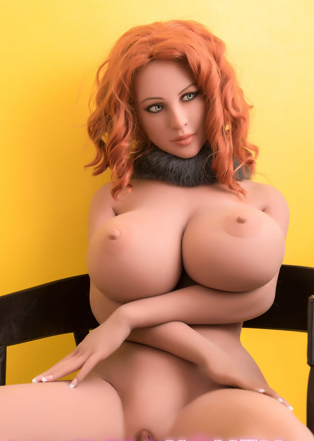 "5ft4"" Premium TPE Realistic H-cup Breast Lifelike Sex Love Doll ID:162-05"