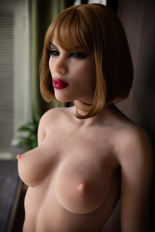 "HRDOLL Brand 5ft3"" Premium TPE Realistic A-cup Breast Lifelike Sex Love Doll ID:158-36"