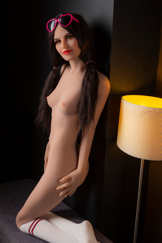 "HRDOLL Brand 5ft6"" Premium TPE Realistic A-cup Breast Lifelike Sex Love Doll ID:166-20"