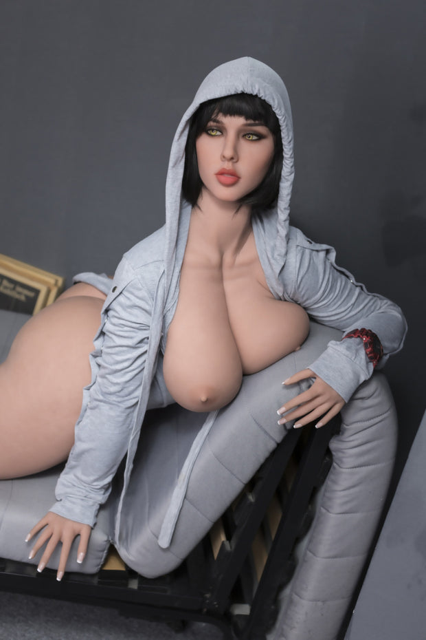 "5ft5"" Premium TPE Realistic H-cup Breast Men Sex Love Doll ID:163-01"