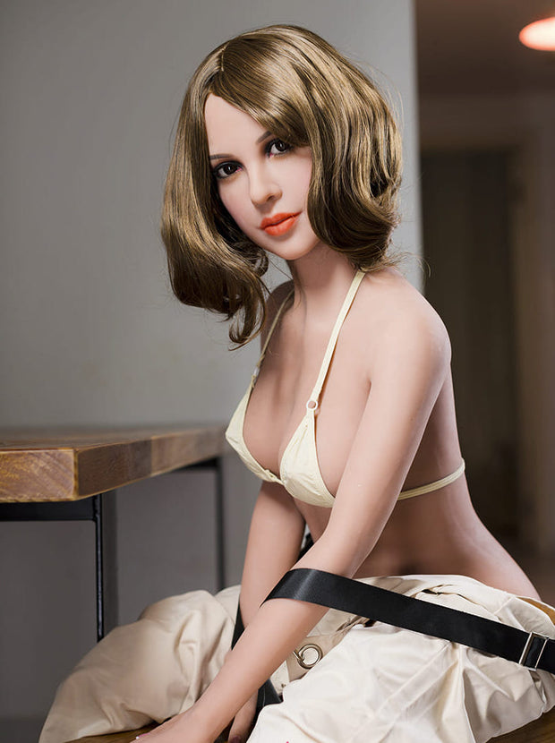 "5ft2"" Premium TPE Realistic B-cup Breast Realistic Sex Love Doll ID:157-07"