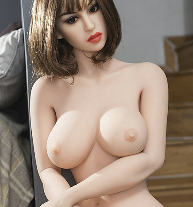"5ft5"" Premium TPE Realistic D-cup Breast Lifelike Sex Love Doll ID:165-17"