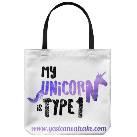 My Unicorn Is Type 1 Tote Bag - TL