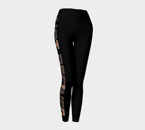 Not Def1ned Leggings - Rose Gold & Grey - AOW