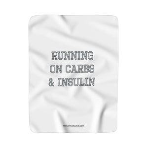 Running on Carbs & Insulin - Sherpa Fleece Blanket - PY