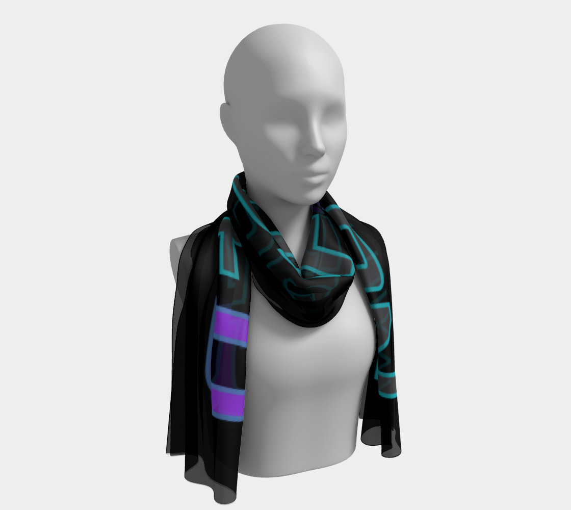 Not Def1ned Scarf - Purple/Grey/Aqua