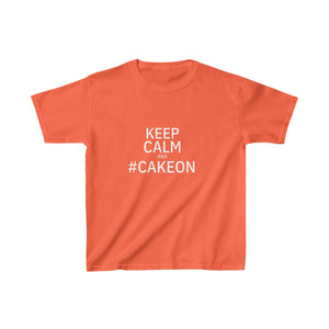 Keep Calm & #CakeOn - Kids Heavy Cotton™ Tee - PY
