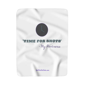 Time for Shots - Sherpa Fleece Blanket - PY