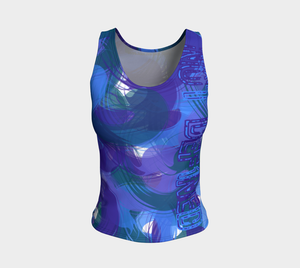 Not Def1ned - Tank Top Dk Blue DK Purple Dk Green - Regular Length - AOW