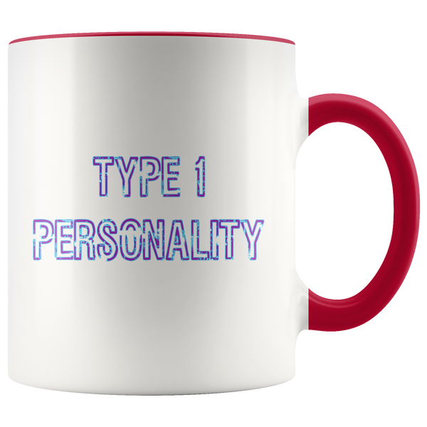 Type 1 Personality Purple/Blue Block - Mug 11Oz