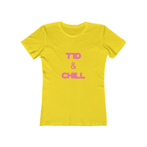 T1D & Chill - Women's The Boyfriend Tee XS/S/M - PY