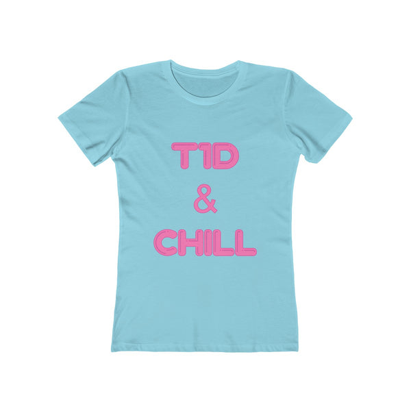 T1D & Chill - Women's The Boyfriend Tee Pink L/XL/2XL/3XL - PY