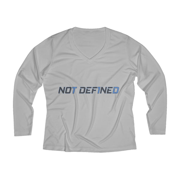 Not Def1ned - Women's Long Sleeve Performance V-neck Tee - PY