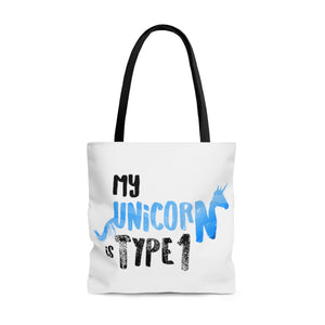 My Unicorn is Type 1 - AOP Tote Bag Blue - PY