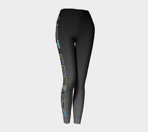 Not Def1ned Leggings - Yw/Bk/BL