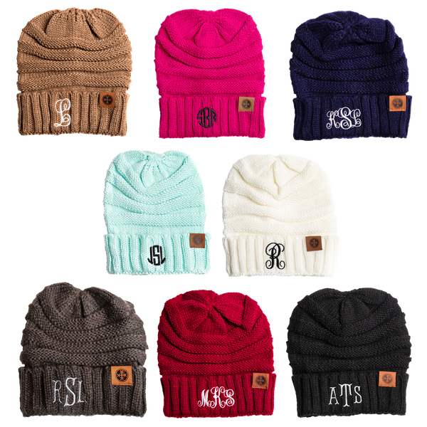 Monogrammed Adult Beanie - TL