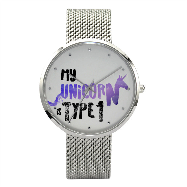 My Unicorn is type 1 Purple - 30 Meters Waterproof Quartz Fashion Watch