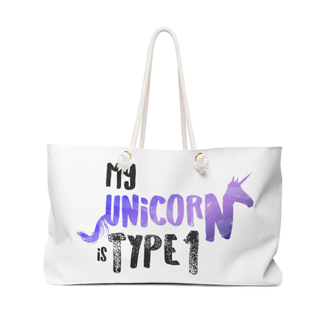 My Unicorn is Type 1 - Weekender Bag Purple - PY