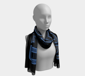 Not Def1ned Scarf - Blue/Grey
