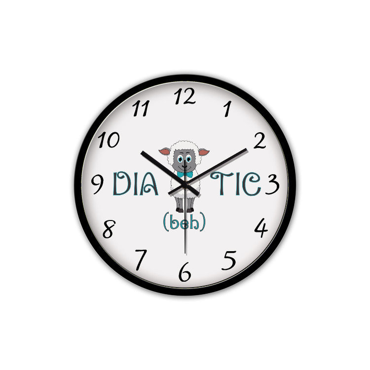 Diabehtic Blue - Non-Ticking Silent Wall Clock