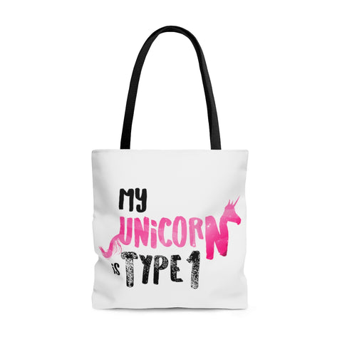 My Unicorn is Tyep 1 - AOP Tote Bag Pink - PY