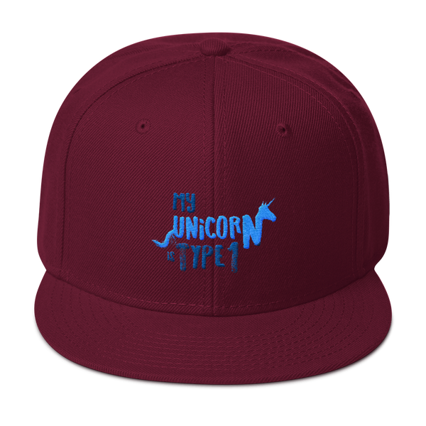 My Unicorn is Type 1 - Snapback Hat Blue
