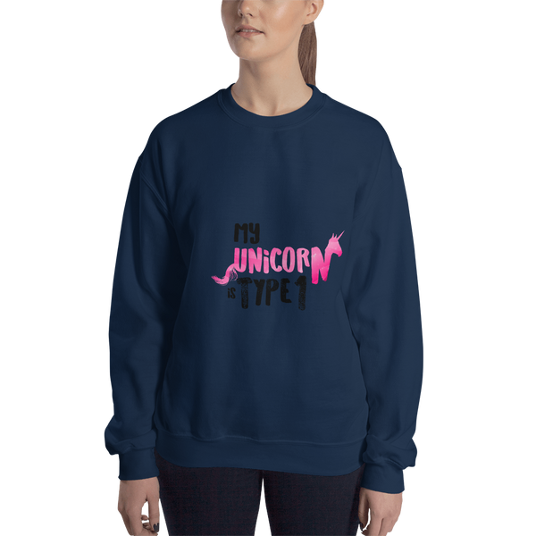 My Unicorn is Type 1 - Sweatshirt Pink