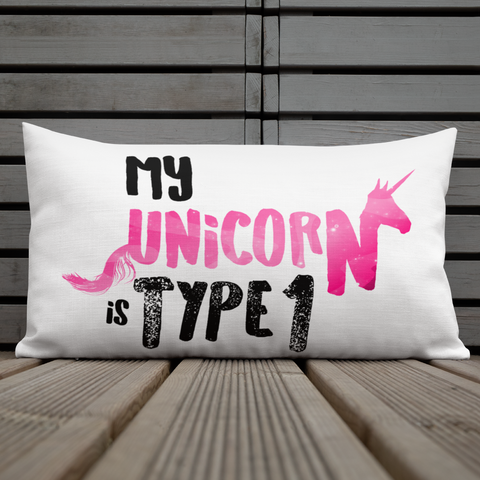 My Unicorn is Type 1 - Premium Pillow Pink - PF