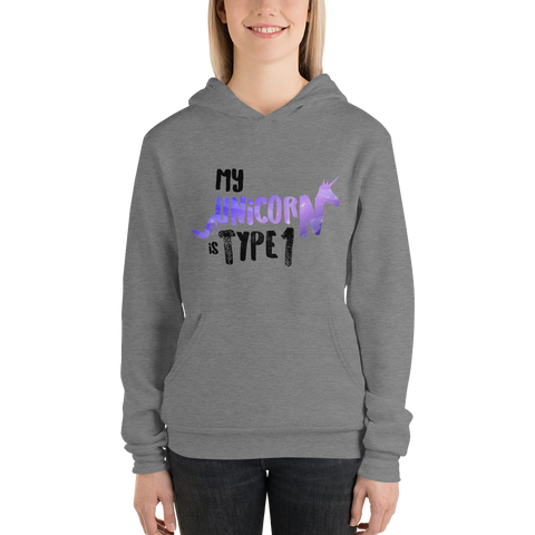 My Unicorn is Type 1 - Unisex hoodie
