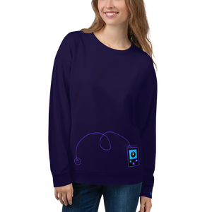 Rock The Pump - Unisex Sweatshirt - Purple on Purple - PF