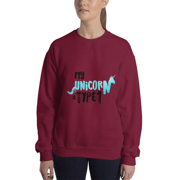 My Unicorn is Type 1 - Sweatshirt Aqua