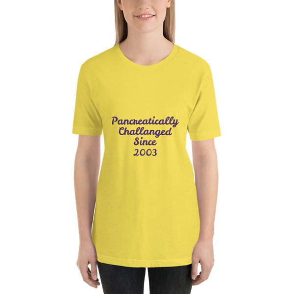 Personalized Pancreatically Challenged  - Short-Sleeve Unisex T-Shirt