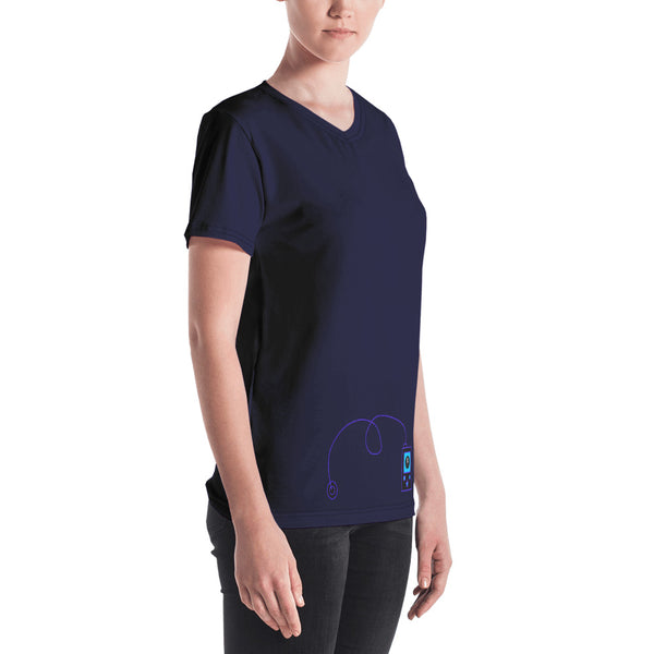 Rock The Pump - Women's V-neck Purple